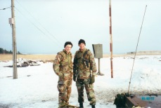 With my good friend and liberty mate Scott Macintyre at Camp Fuji, Japan the winter of 2000.